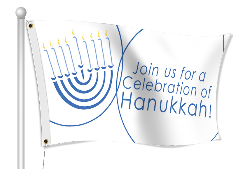 Hanukkah Flags - Custom Printed Fabric Flags | Banners.com