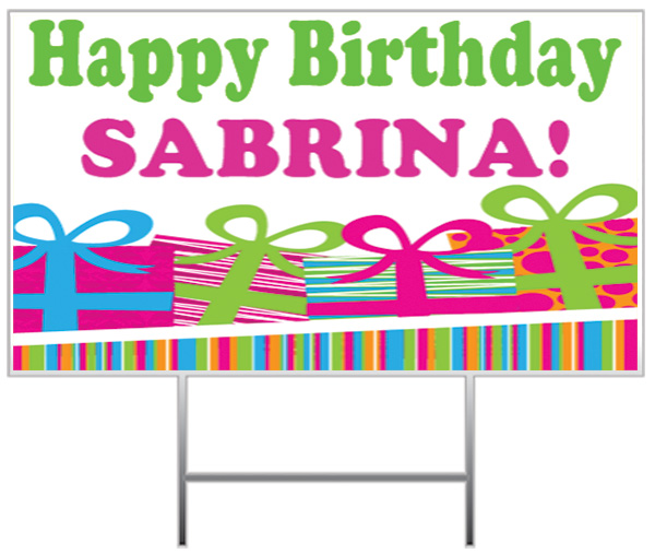 Happy Birthday Yard Sign Sample
