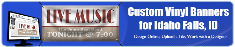 Custom Vinyl Banners for Idaho Falls, ID from Banners.com