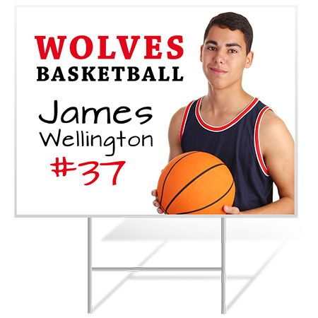 Basketball Yard Sign Samples