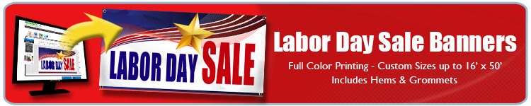 Labor Day Banners - Labor Day Sales Banners from Banners.com
