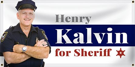 Sheriff Election Banner Example | Banners.com