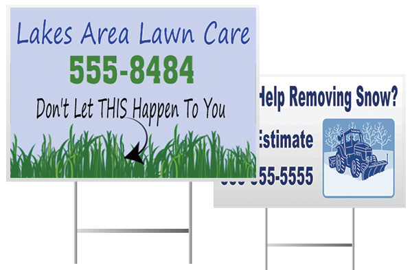Lawn Care Service Yard Sign Examples from Banners.com