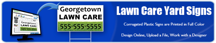 Lawn Care Yard Signs - Order Custom Signs from Banners.com