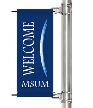 Custom College and University Campus Pole Banners | Banners.com