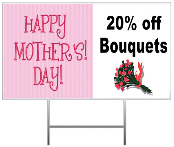 Mother's Day Yard Sign Samples
