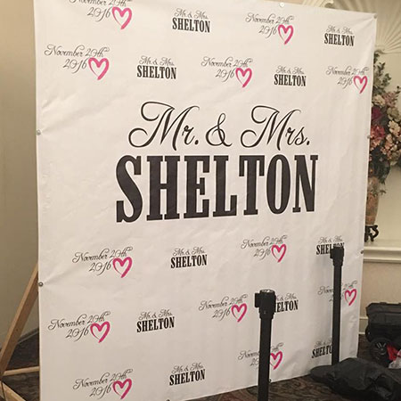 Wedding Backdrop | Banners in Action