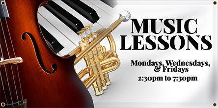 Music Lessons Banner | Banners.com