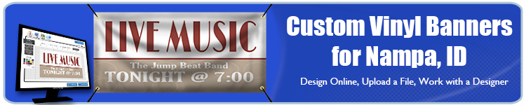 Custom Vinyl Banners for Nampa, ID from Banners.com