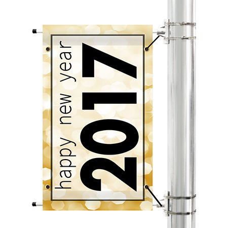 New Year Pole Banners | Banners.com