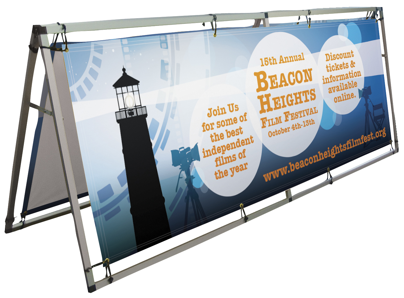 Outdoor Banner Frame Large with Printed Banners | Banners.com