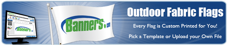 Order Custom Outdoor Flags Online from Banners.com