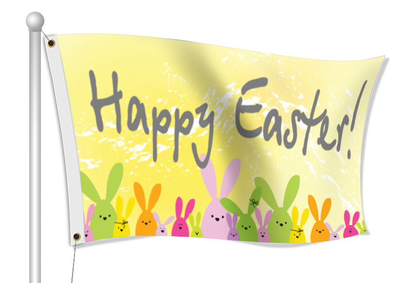 Custom Easter Flags | Banners.com