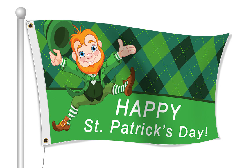 St.Patrick's Day Flags | Banners.com