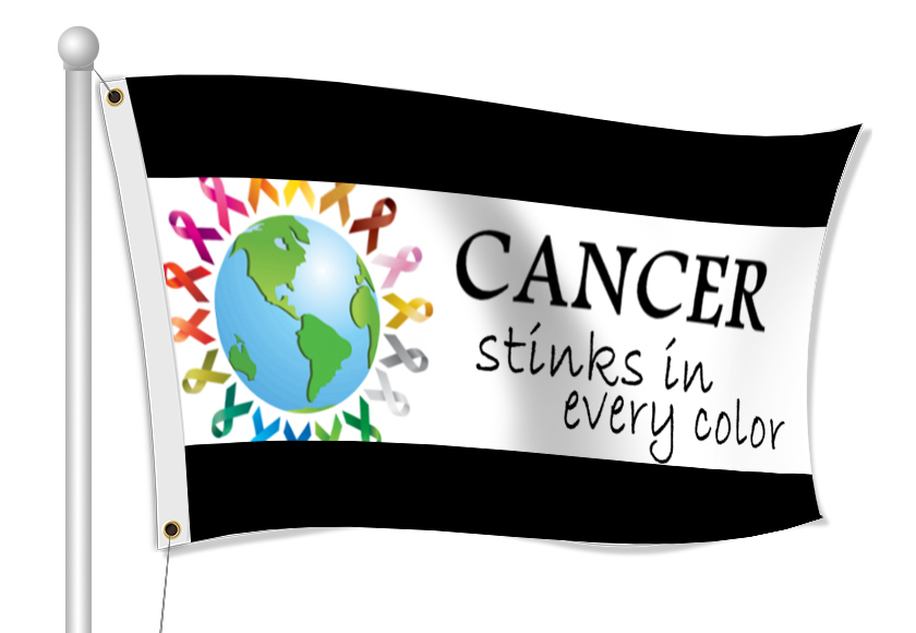 Fabric Flags for Cancer Awareness | Banners.com