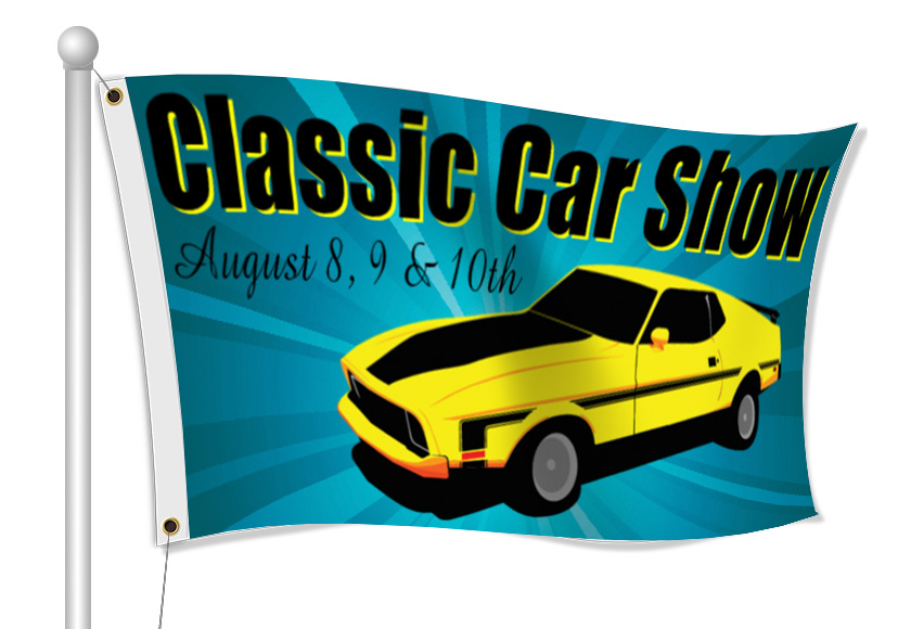 Custom Printed Car Show Fabric Flag | Banners.com