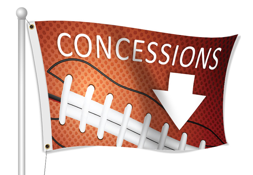 Fabric Flags for Concession Stands | Banners.com