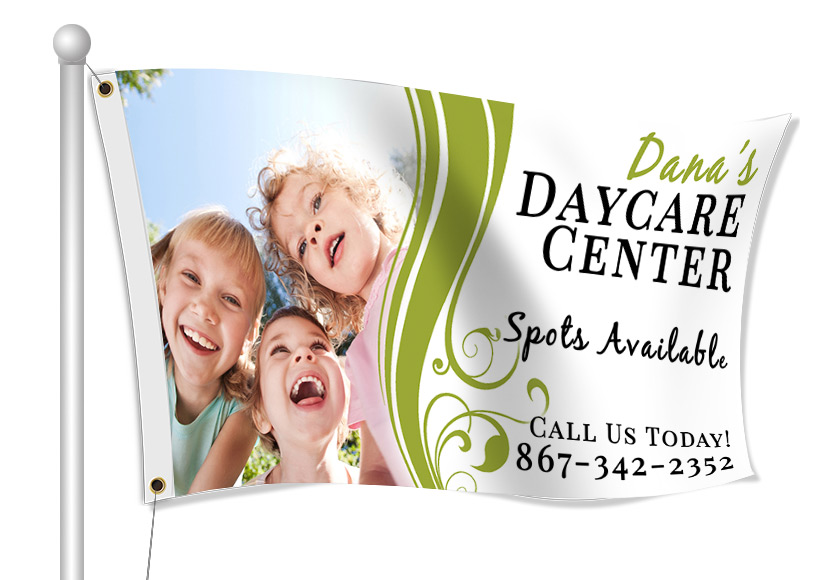 Fabric Flags for Daycare | Banners.com