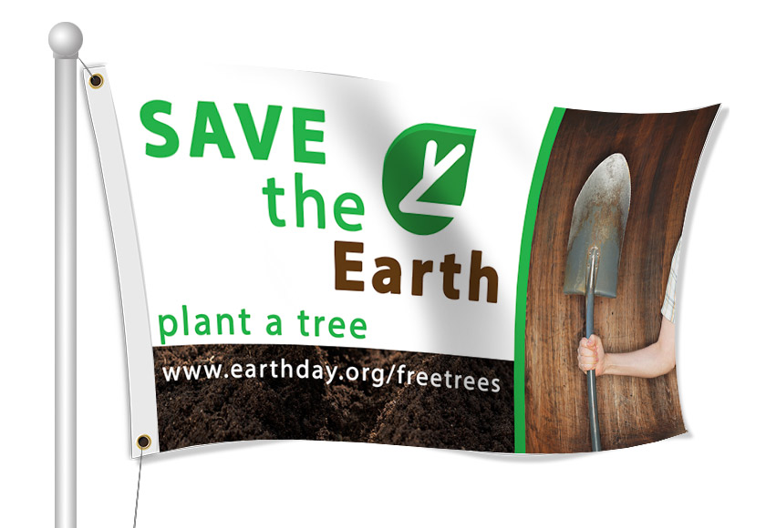 Earth Day Flags | Banners.com