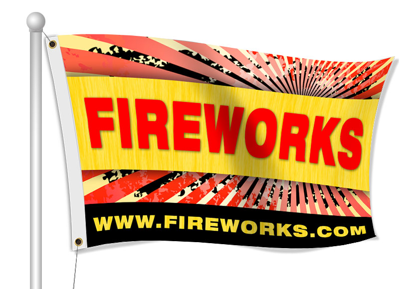 Fabric Flags for Firework Stand | Banners.com