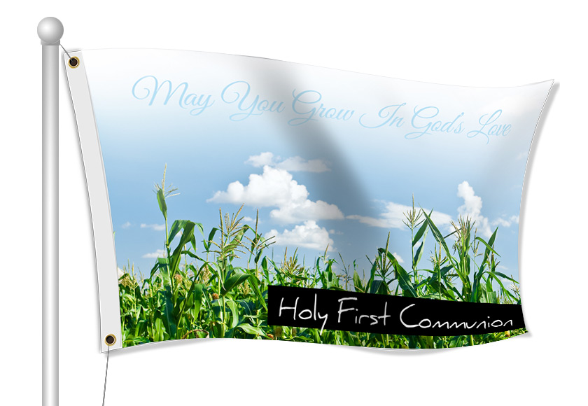 First Communion Flags - Custom Printed Fabric Flags | Banners.com