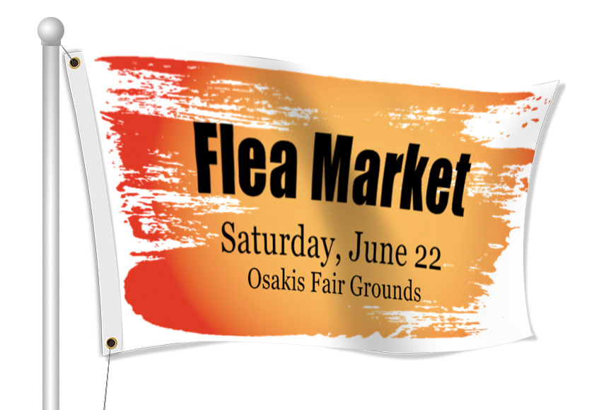 Fabric Flags for Flea Market | Banners.com