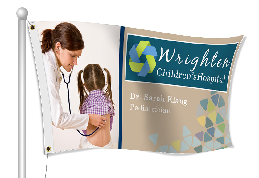 Fabric Flags for Hospitals | Banners.com