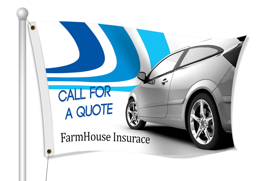 Fabric Flags for Insurance | Banners.com