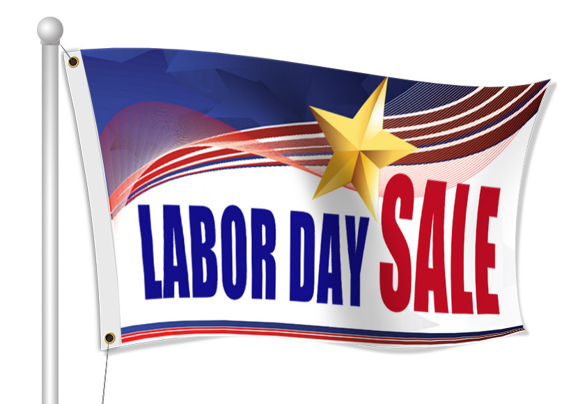 Custom Labor Day Fabric Flags | Banners.com