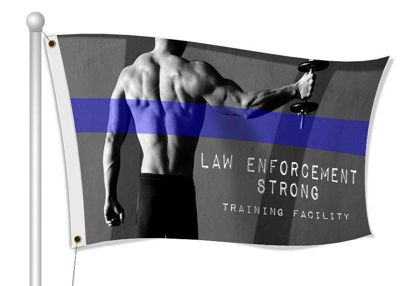 Custom Printed Law Enforcement Fabric Flag | Banners.com