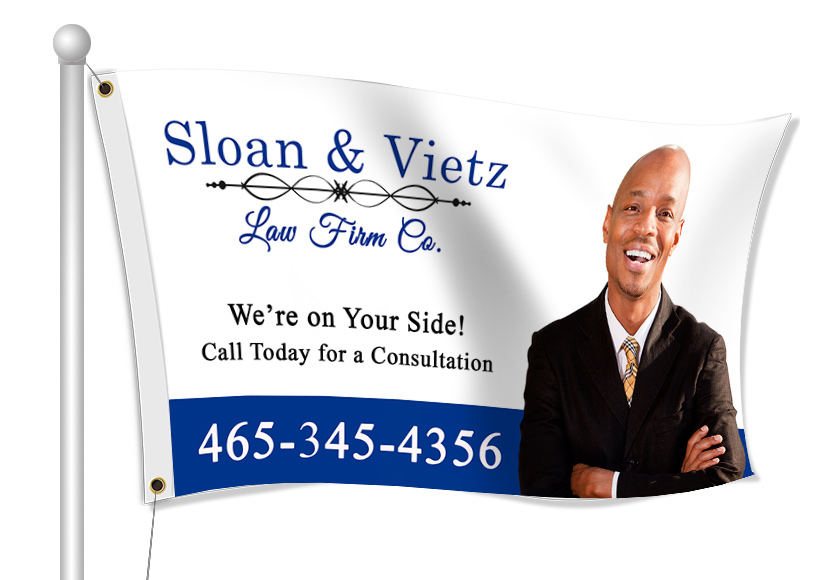 Fabric Flags for Lawyer | Banners.com