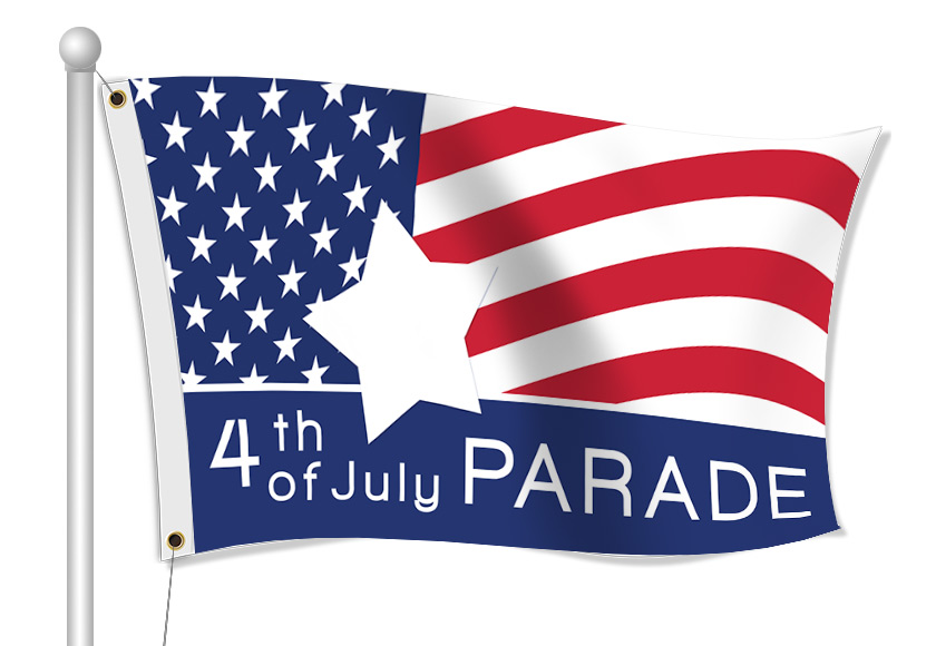 Custom Printed Parade Fabric Flag | Banners.com