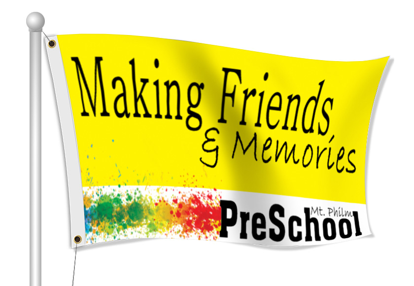 Custom Printed Preschool Fabric Flag | Banners.com