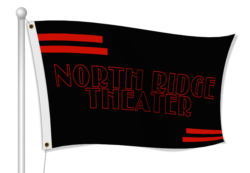 Custom Printed Theater Fabric Flag | Banners.com