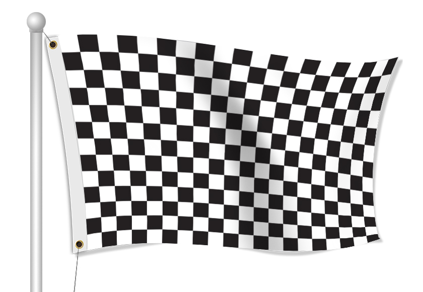 Custom Printed Finish Line Fabric Flag | Banners.com