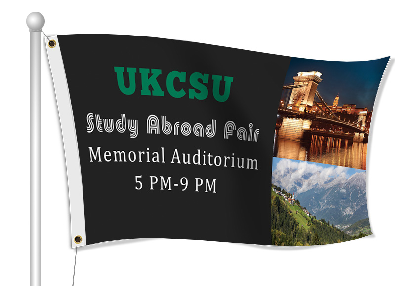 Fabric Flags for College Fair | Banners.com