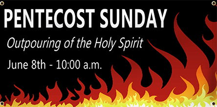 Pentecost Banners - Custom Pentecost Banners for Churches