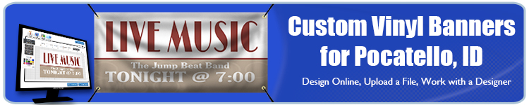 Custom Vinyl Banners for Pocatello, ID from Banners.com