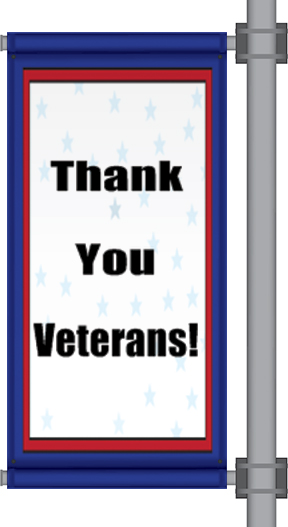 Veterans Day Pole Banners | Banners.com
