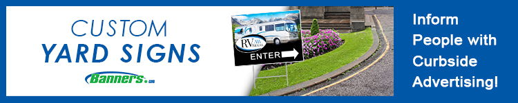 RV Dealership Custom Yard Signs | Banners.com