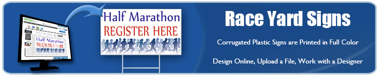 Custom Full Color Printed Running Race Event Yard Signs from Banners.com