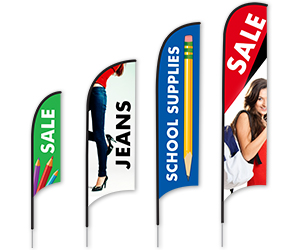 Back to School Razor Feather Flags | Banners.com
