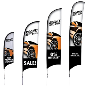 Razor Flags - Custom Razor Flags | Wholesalebannerz.com