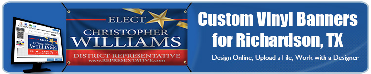 Custom Vinyl Banners for Richardson, TX from Banners.com