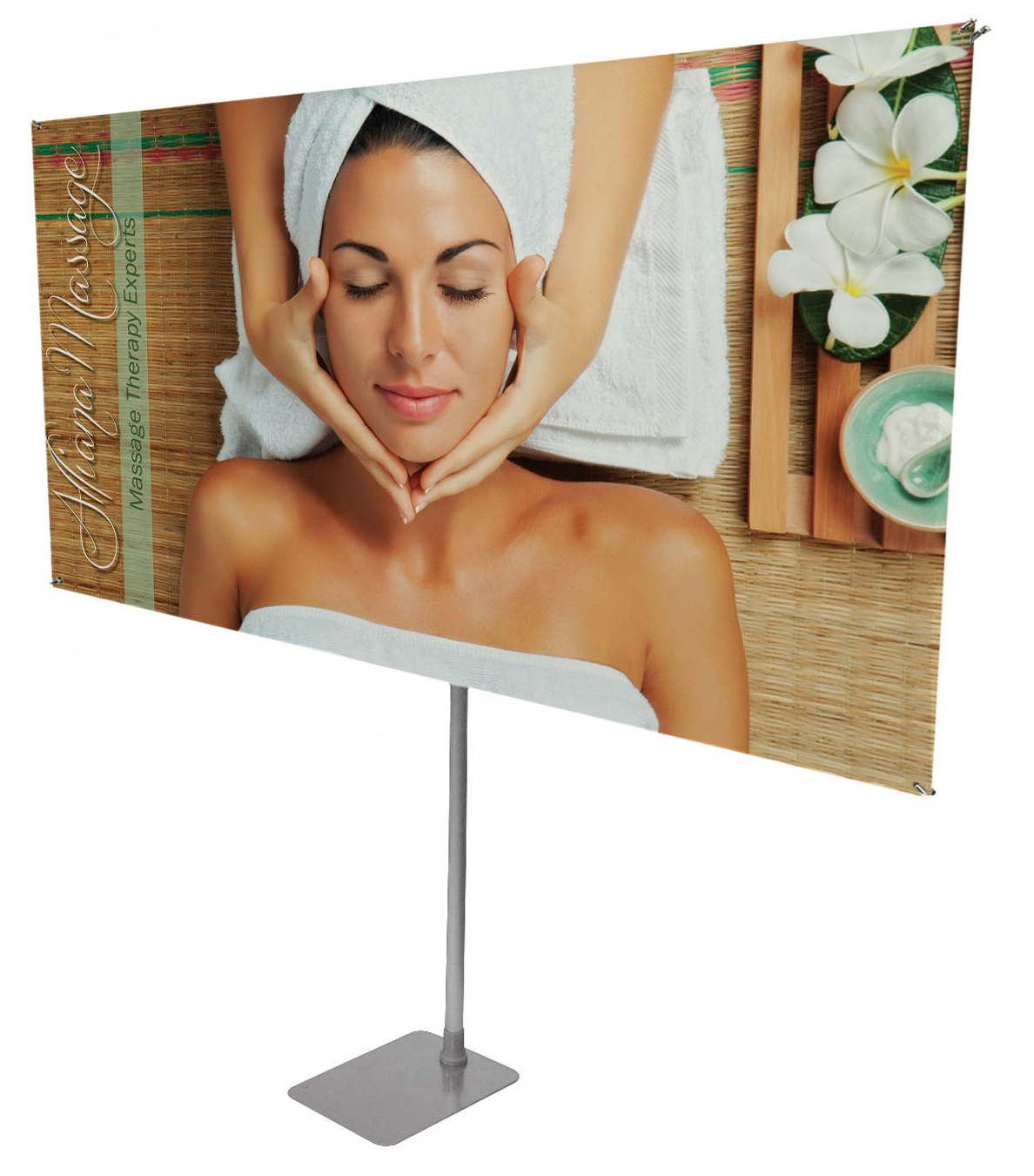 "Rotatable Banner Stand 75"" x 40"" Horizontal 