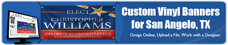 Custom Vinyl Banners for San Angelo, TX from Banners.com