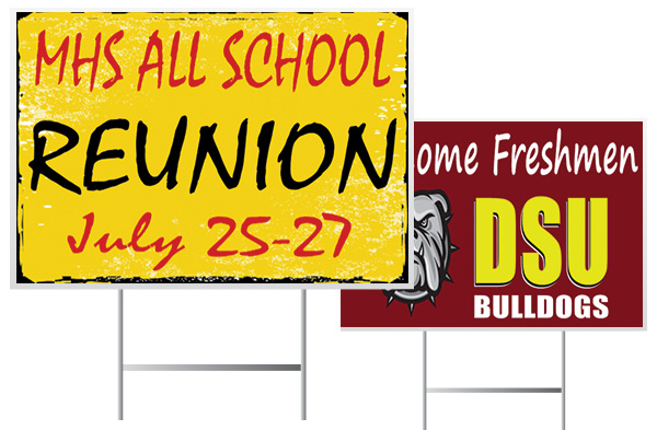 School Event Yard Sign Examples from Banners.com