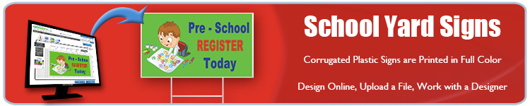 School Event Yard Signs - Order Custom Signs from Banners.com