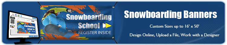 Snowboarding Banners | Banners.com