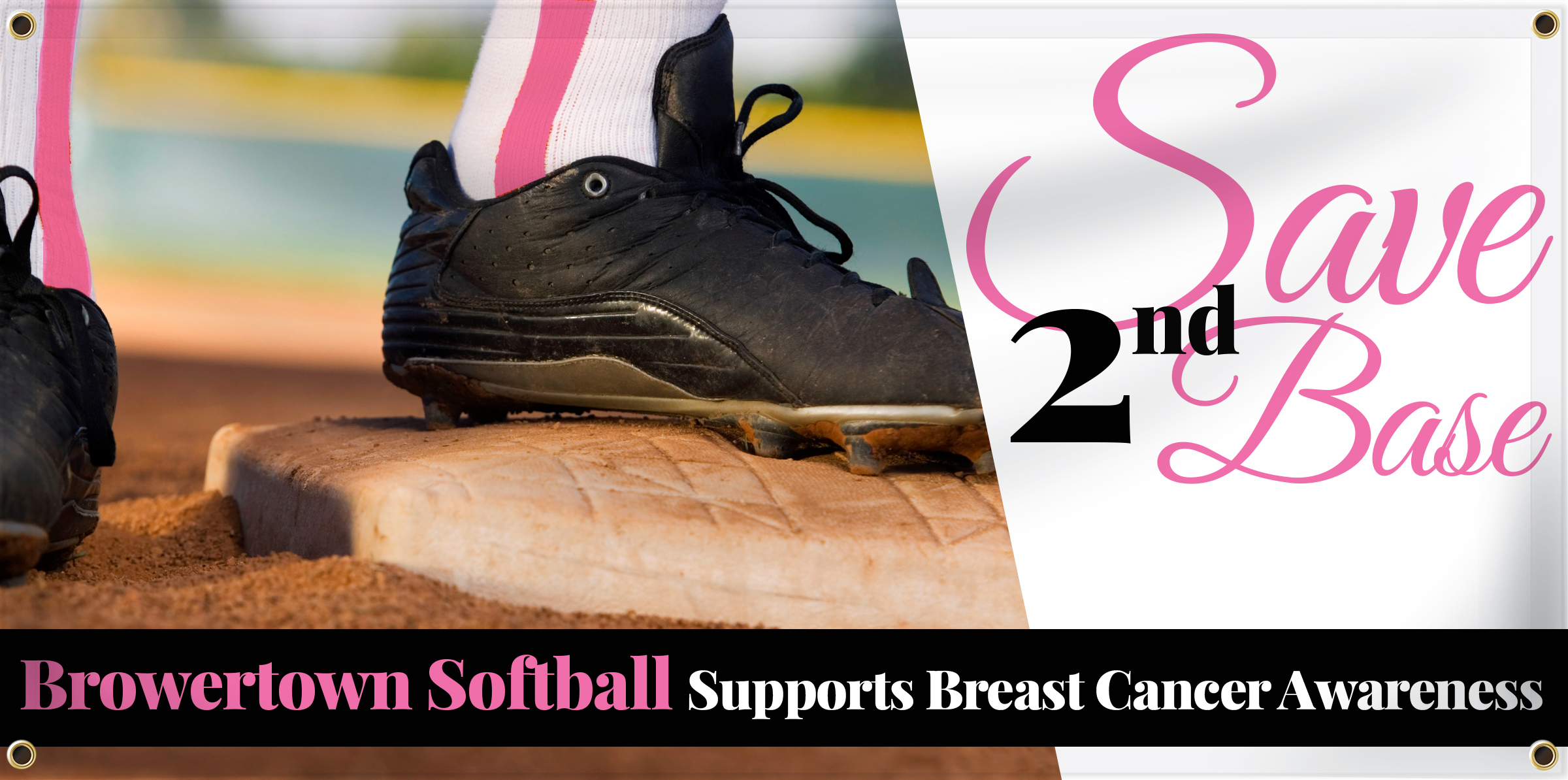 Softball Banner Idea - Save 2nd Base | Banners.com